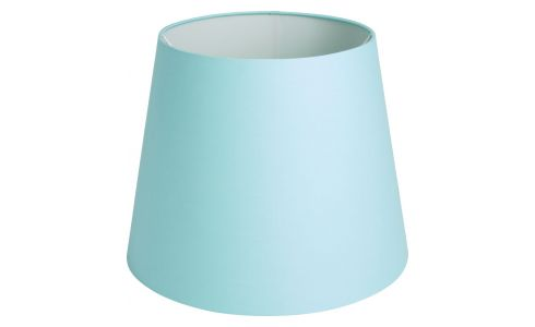 Large blue lampshade