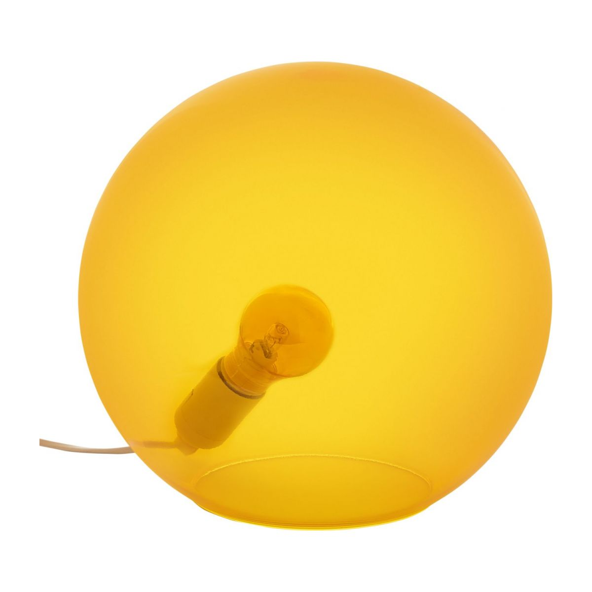 Lamp made of glass 30cm, yellow n°1