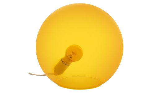 Lamp made of glass 30cm, yellow