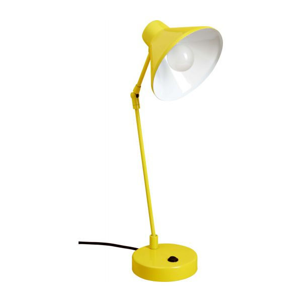 Desk lamp made of metal, yellow n°3