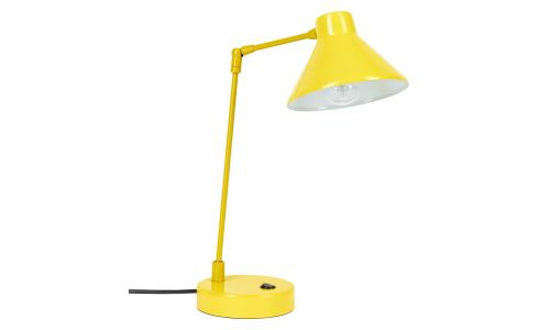 Desk lamp made of metal, yellow