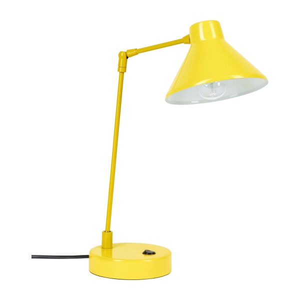 Desk lamp made of metal, yellow n°1