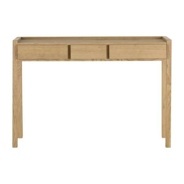 hana ii oak console table habitat. Black Bedroom Furniture Sets. Home Design Ideas