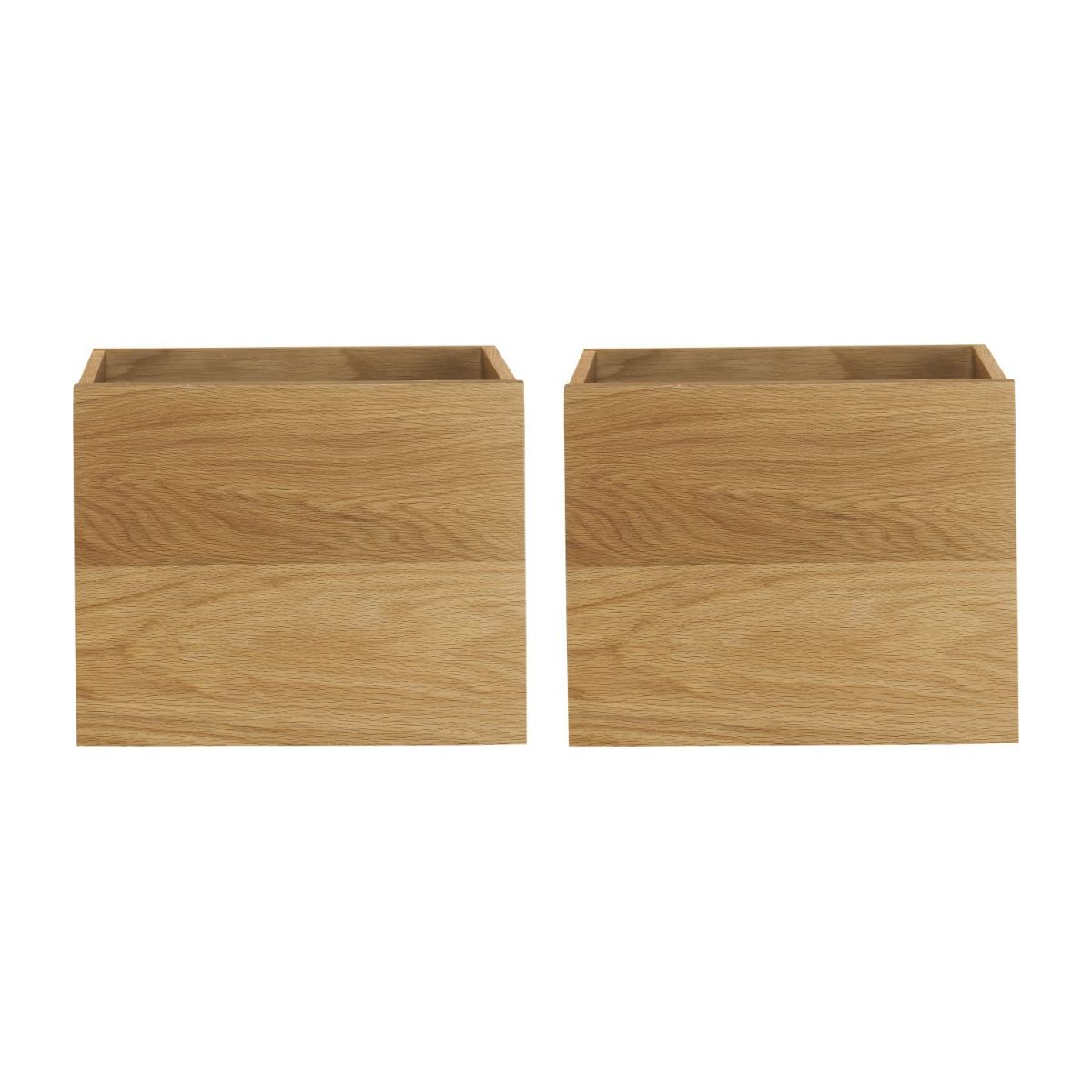 2 oak drawers for mirror n°2
