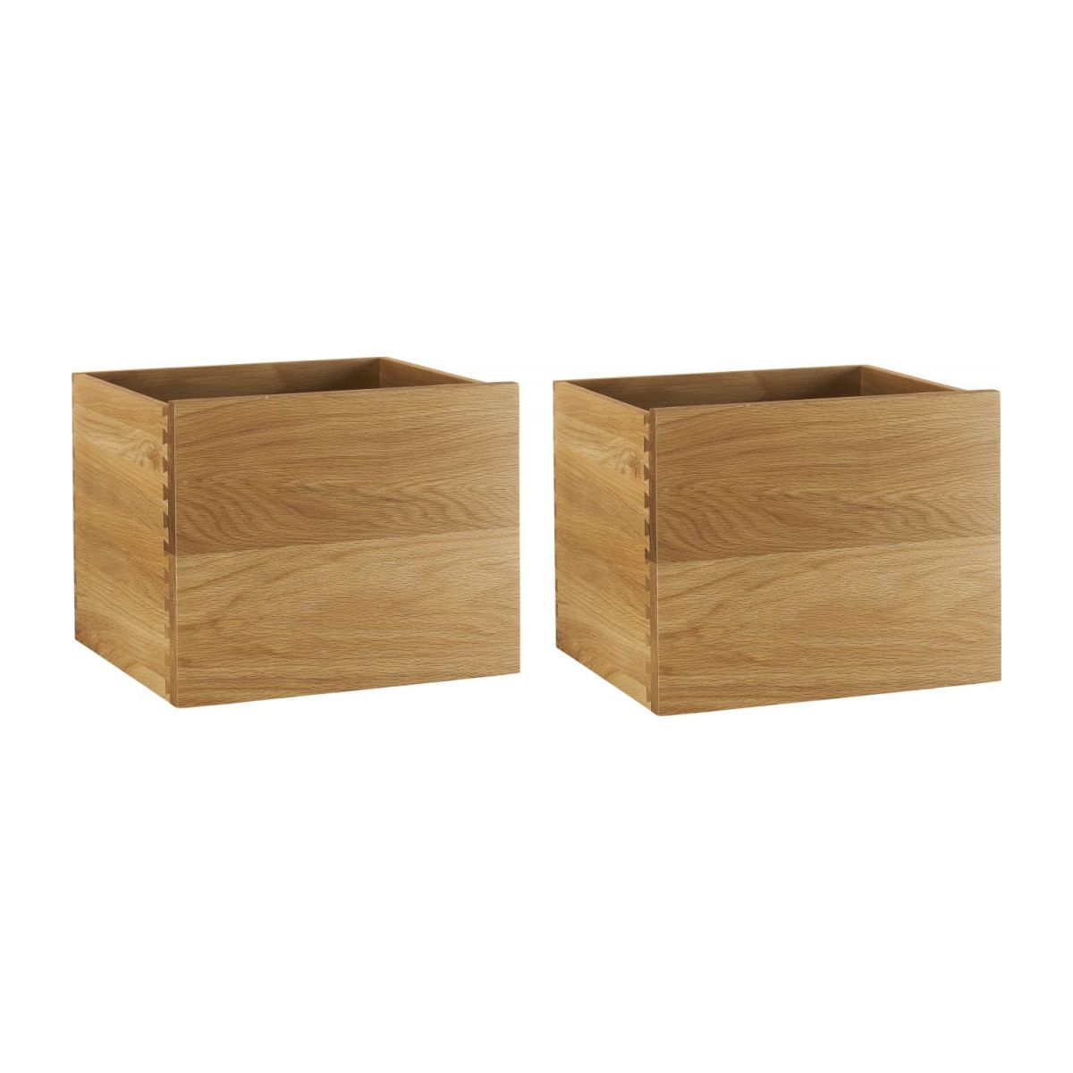 2 oak drawers for mirror n°1