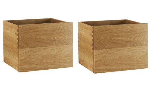 2 oak drawers for mirror