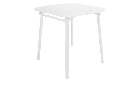 Grey plastic outdoor table and chairs