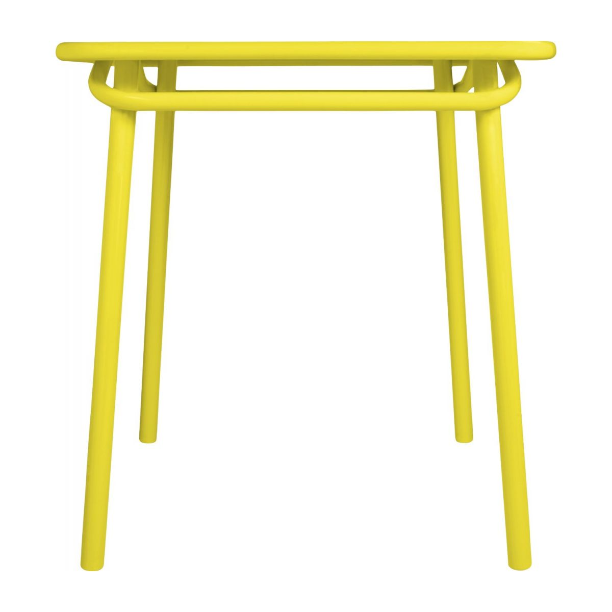 Yellow garden table n°4