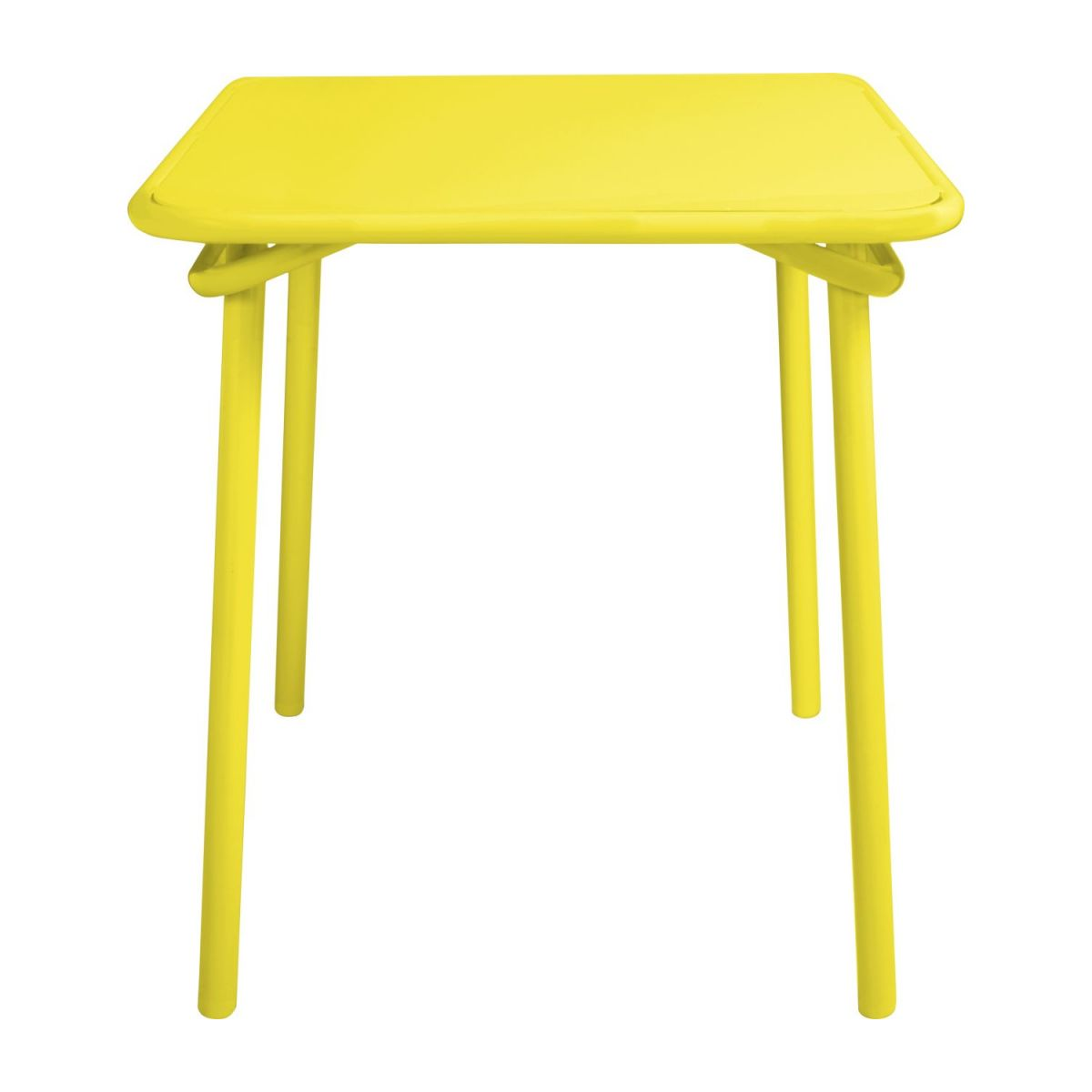 Yellow garden table n°3