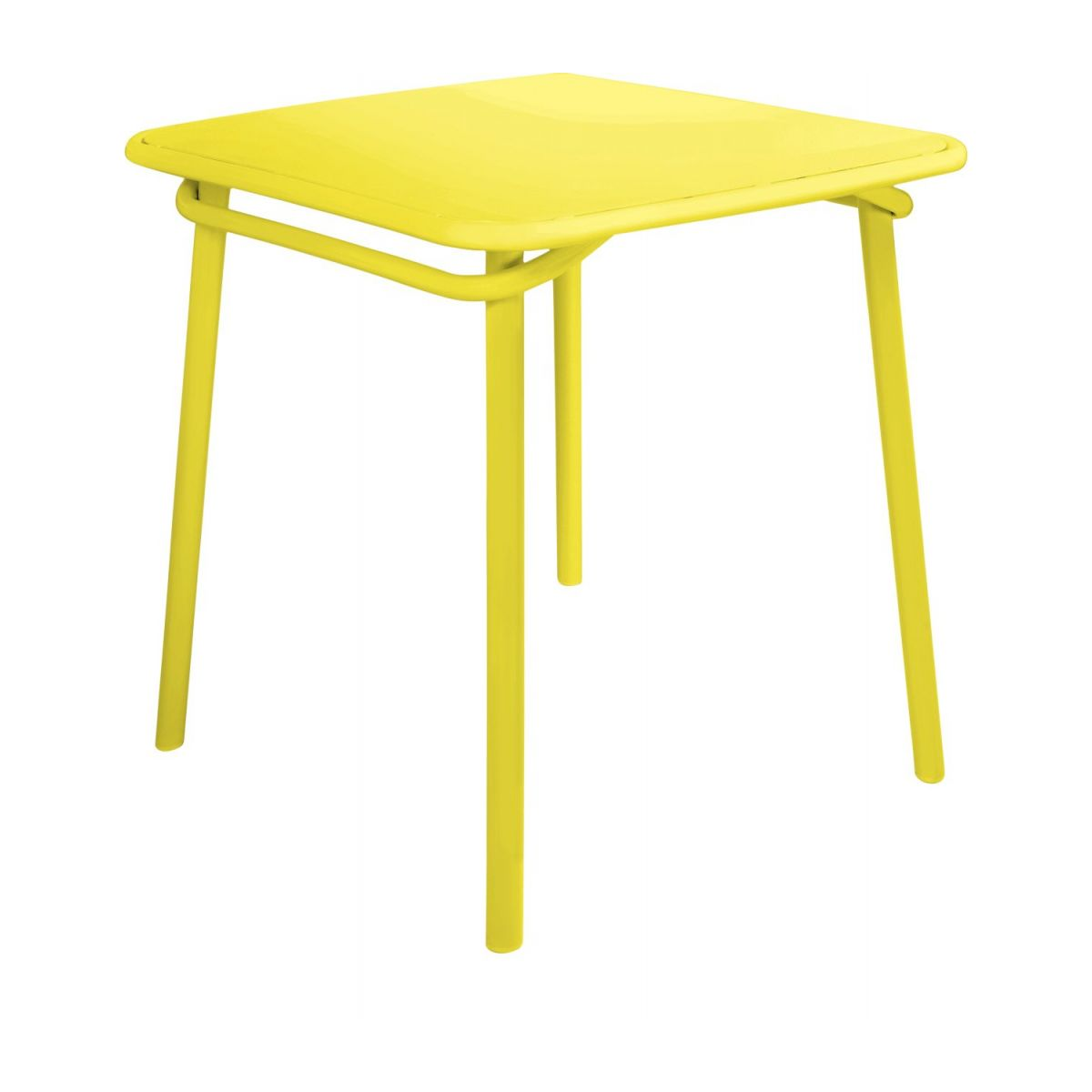 Yellow garden table n°1