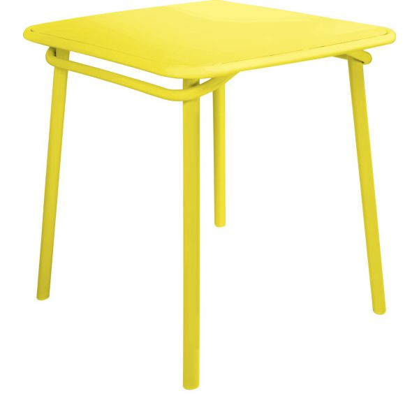 Heva Table de jardin jaune