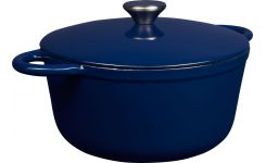 Cast iron cooker 20 cm, blue