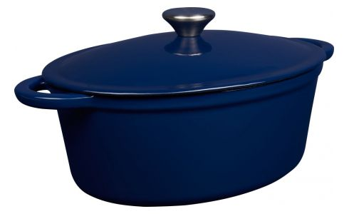 Cast iron cooker 27cm, blue