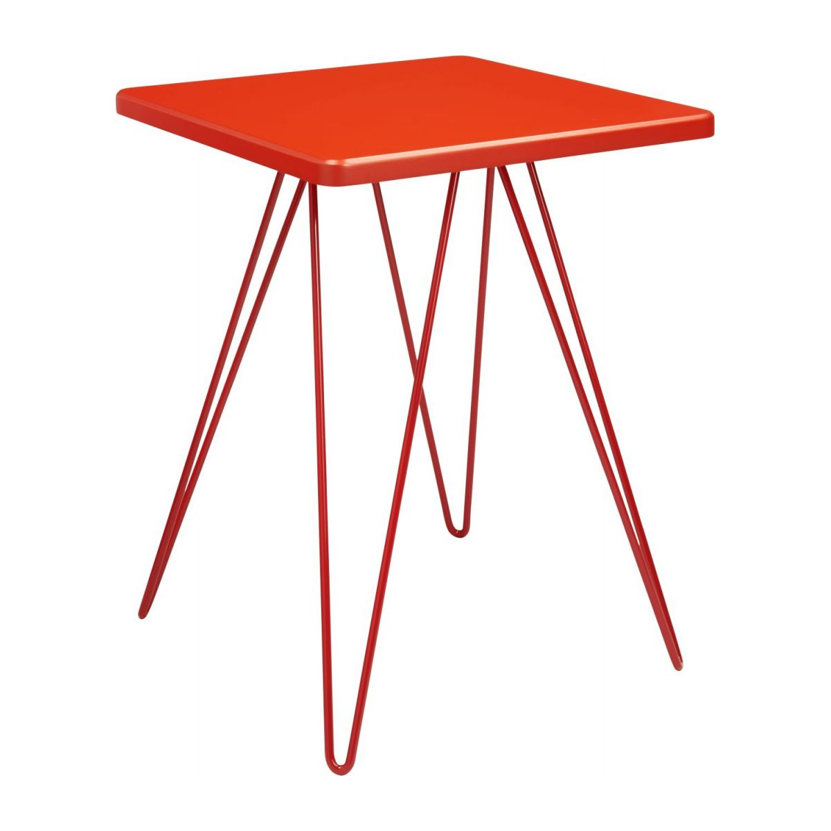 Table d'appoint rouge  n°1