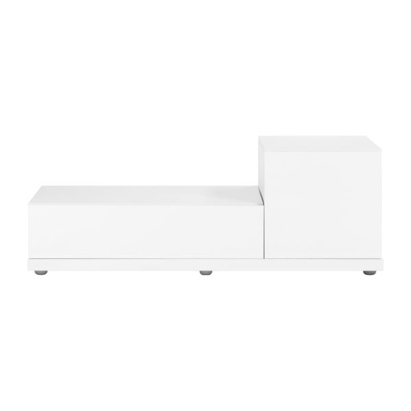 Genna meuble audio vid o laqu blanc habitat for Petit meuble audio