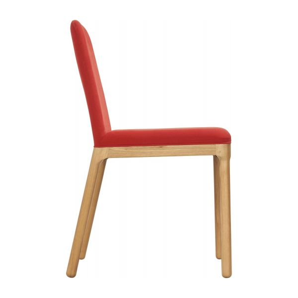 Dining room chair in fabric, red and ash n°4