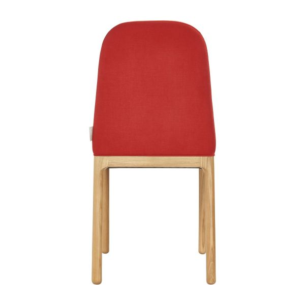 Dining room chair in fabric, red and ash n°3