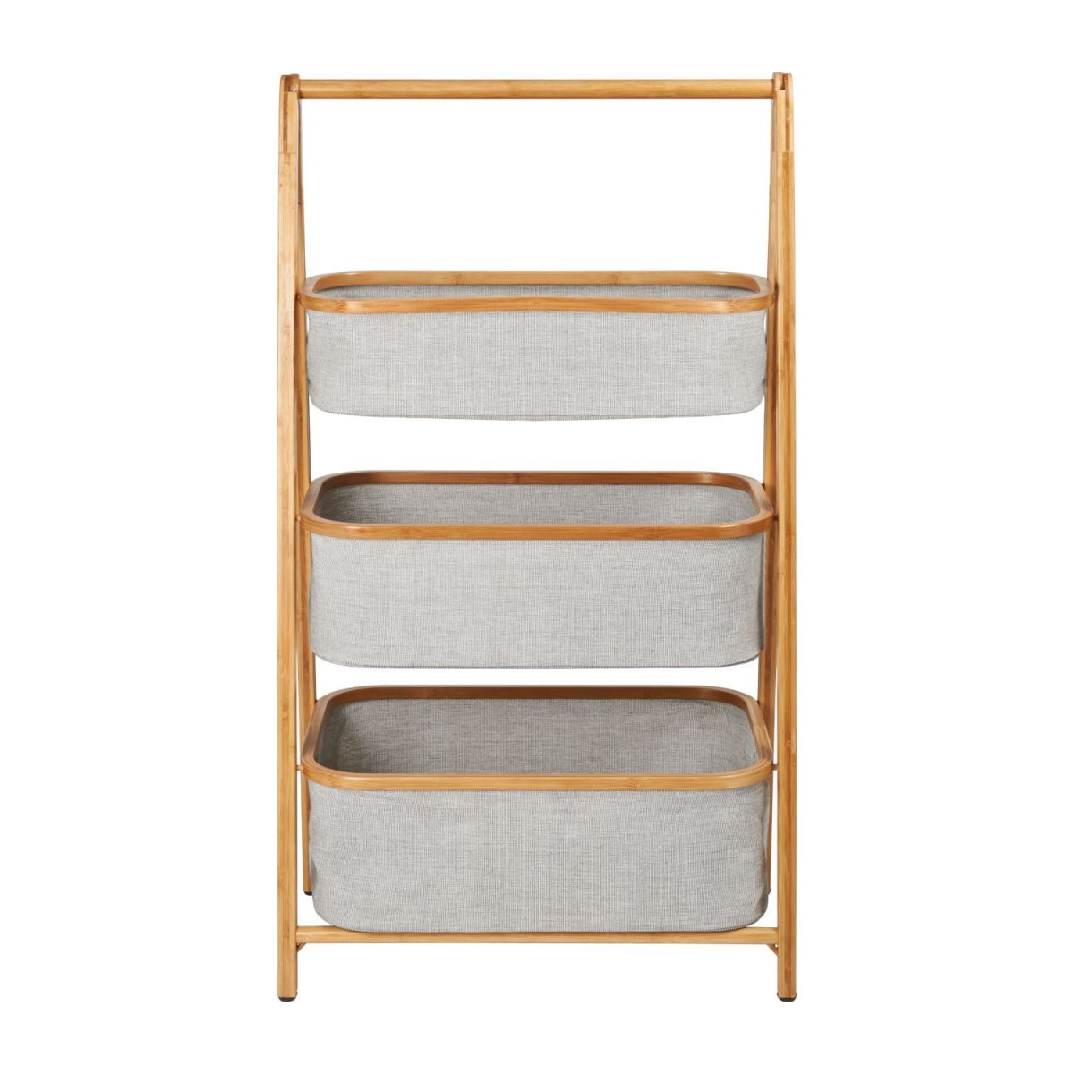 3 baskets shelf made in bamboo n°3