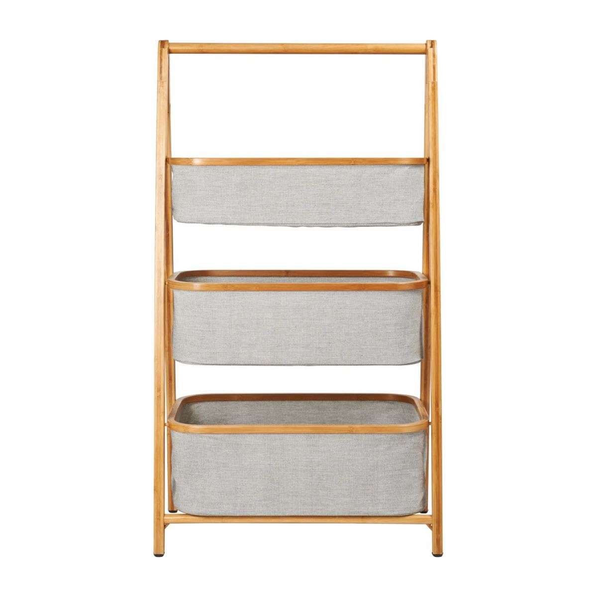 3 baskets shelf made in bamboo n°4