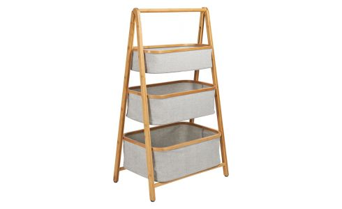 3 baskets shelf made in bamboo