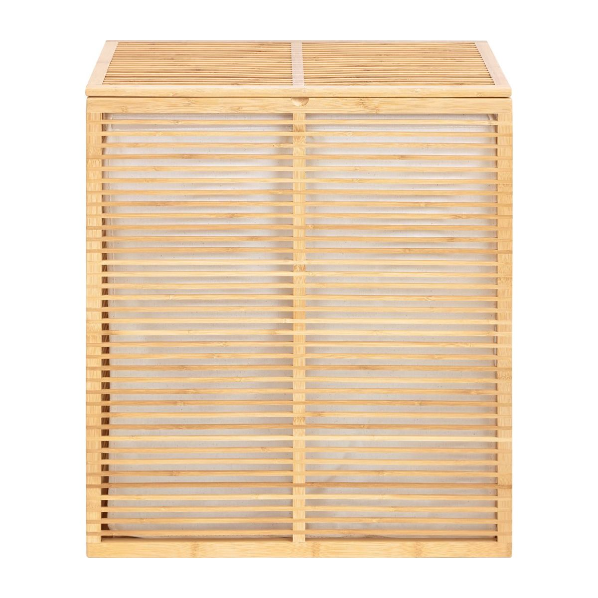 Laundry basket made of bamboo n°4