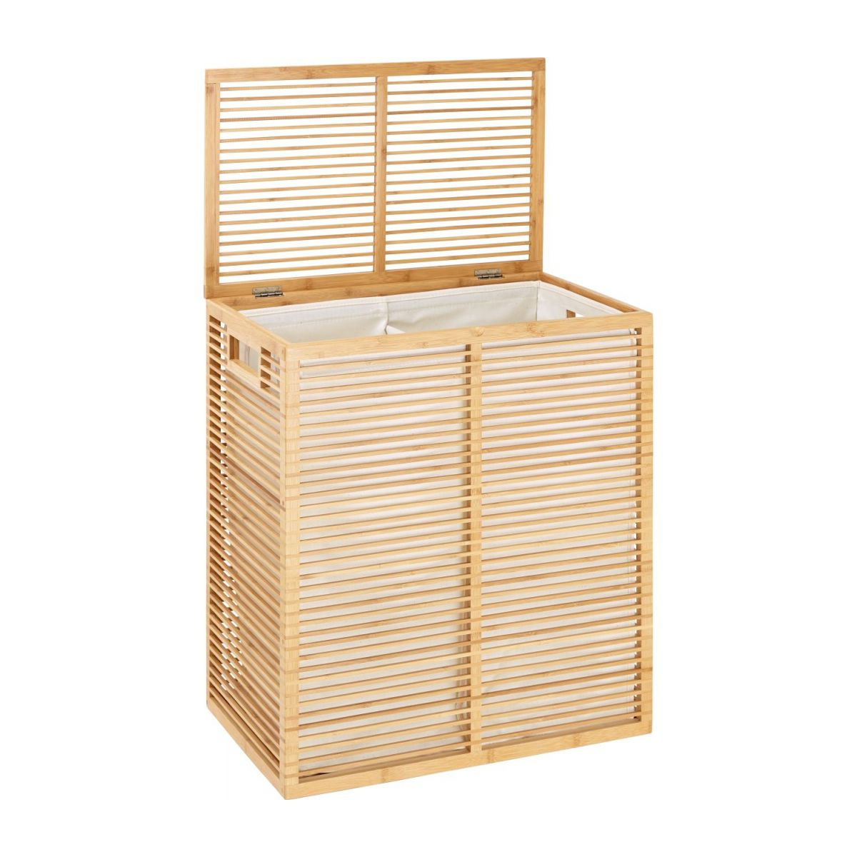 Laundry basket made of bamboo n°2