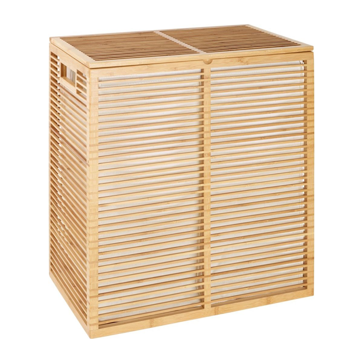 Laundry basket made of bamboo n°1