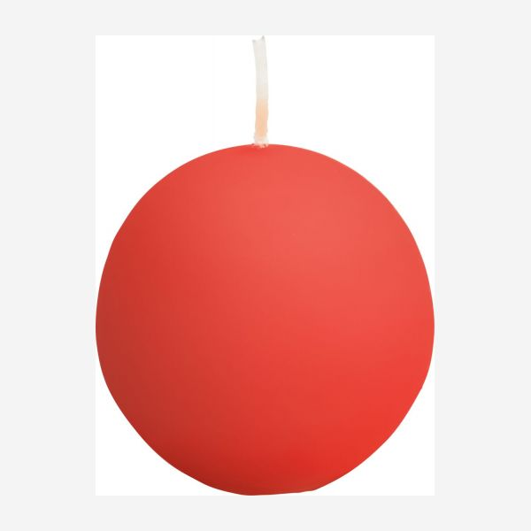 Ball candle 6cm, red