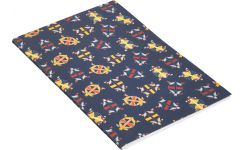 Set of 2 notebooks A5 ,blue with patterns
