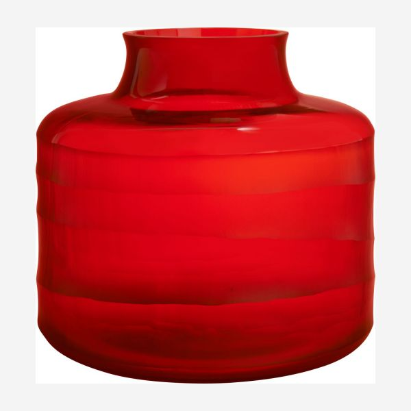 Vase 20 cm made in glass, red