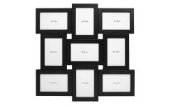 Multi photo frame made in oak, black