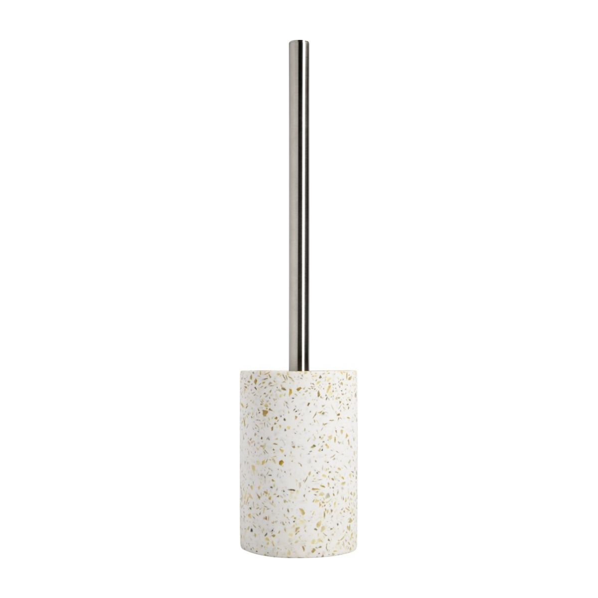 Toilet brush made in polyresin wiht a terrazzo look n°3