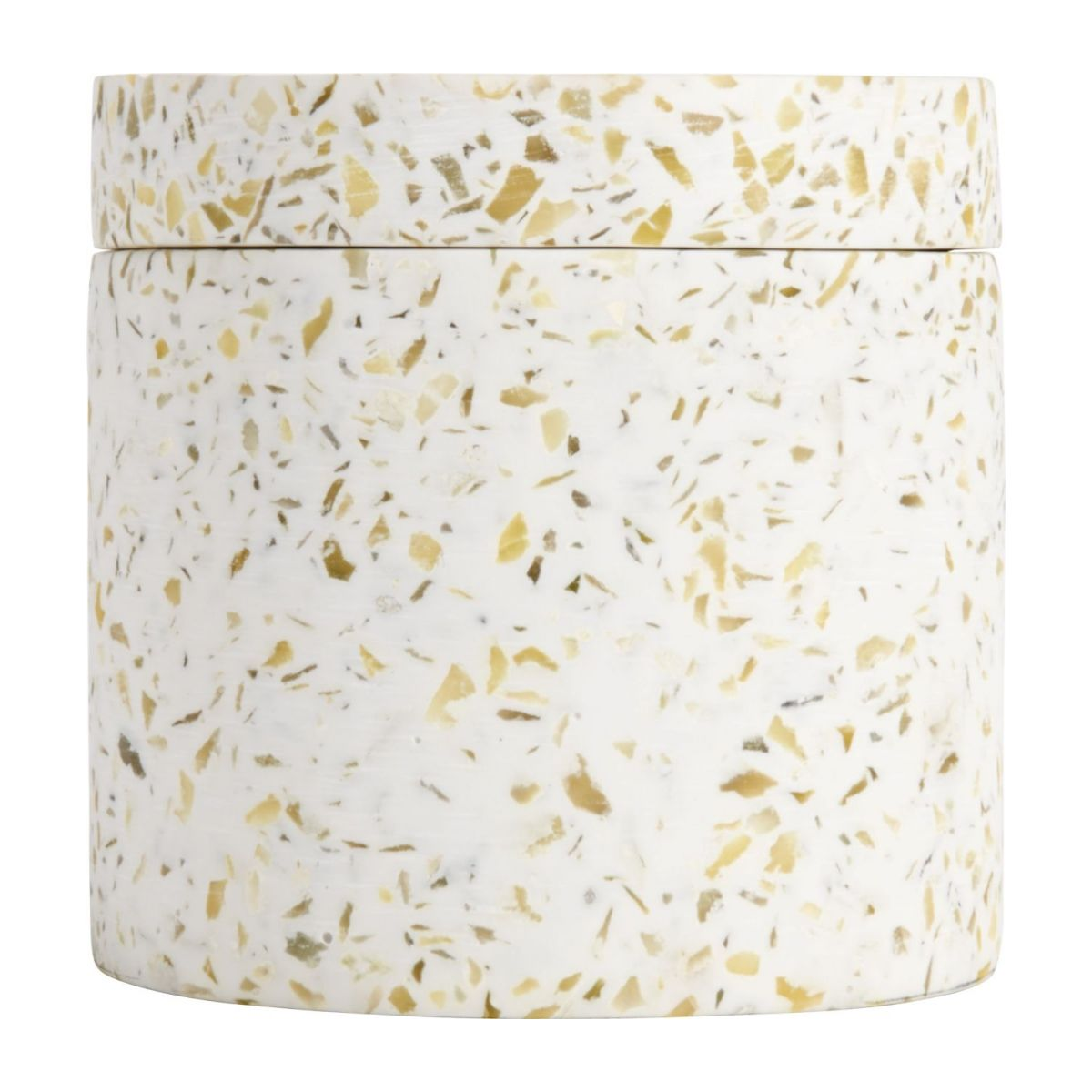 Coton box made in polyresin wiht a terrazzo look n°3