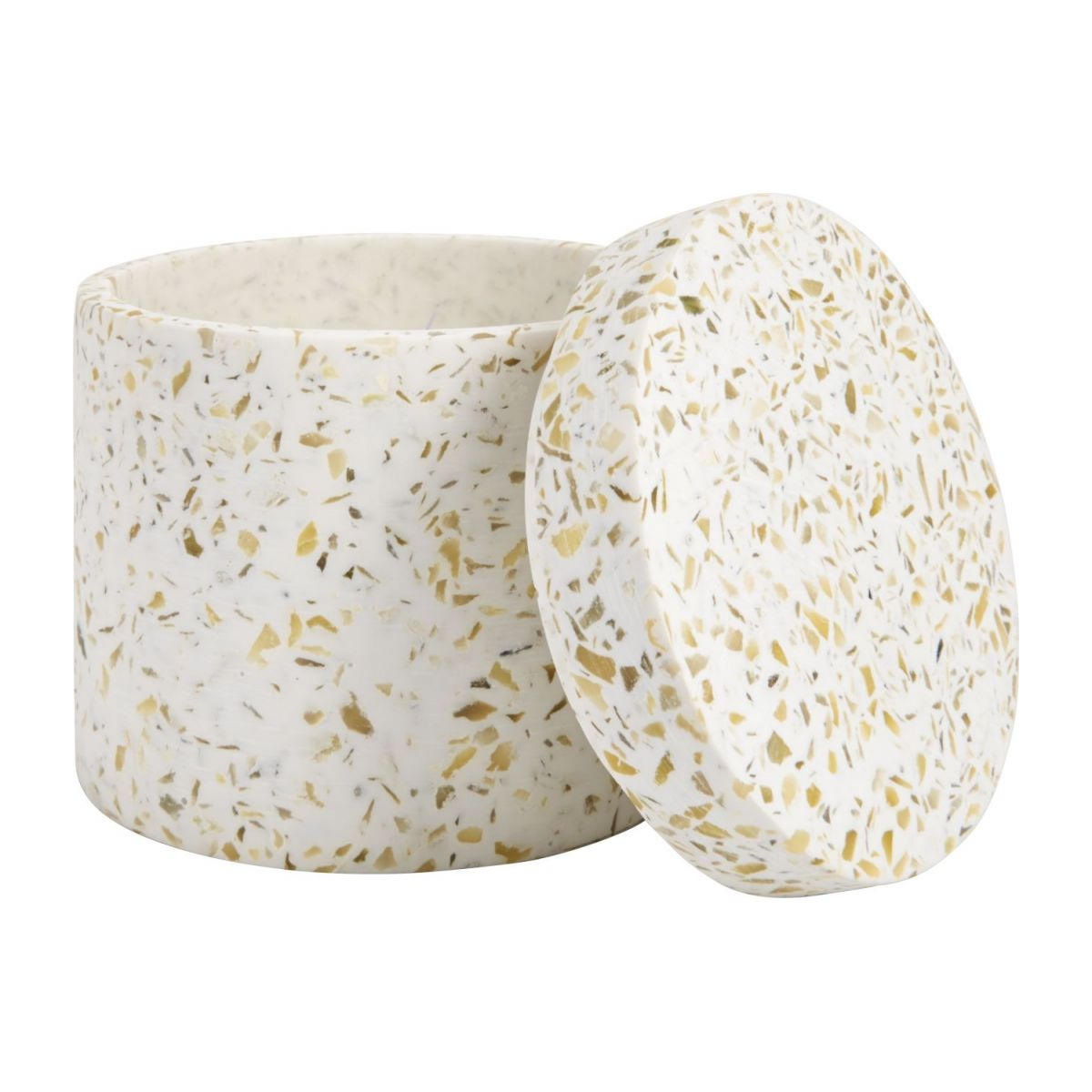Coton box made in polyresin wiht a terrazzo look n°2