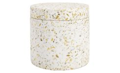 Coton box made in polyresin wiht a terrazzo look