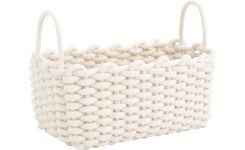 Rectangular basket made of cotton, 32cm