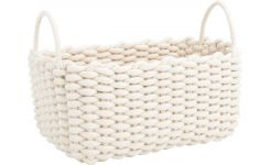 Rectangular basket made of cotton, 37cm