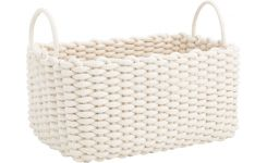 Rectangular basket made of cotton, 43cm