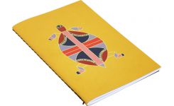 Set of 2 notebooks A6 ,yellow with patterns