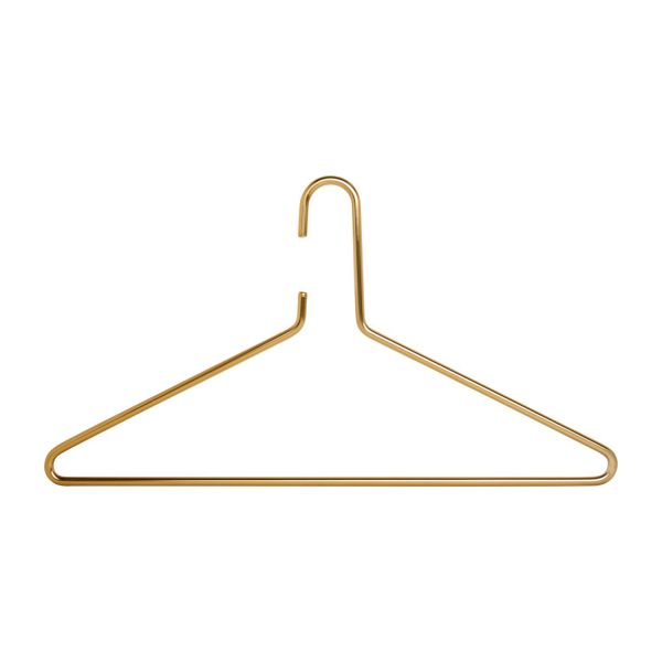 Hanger made of metal, gold n°1