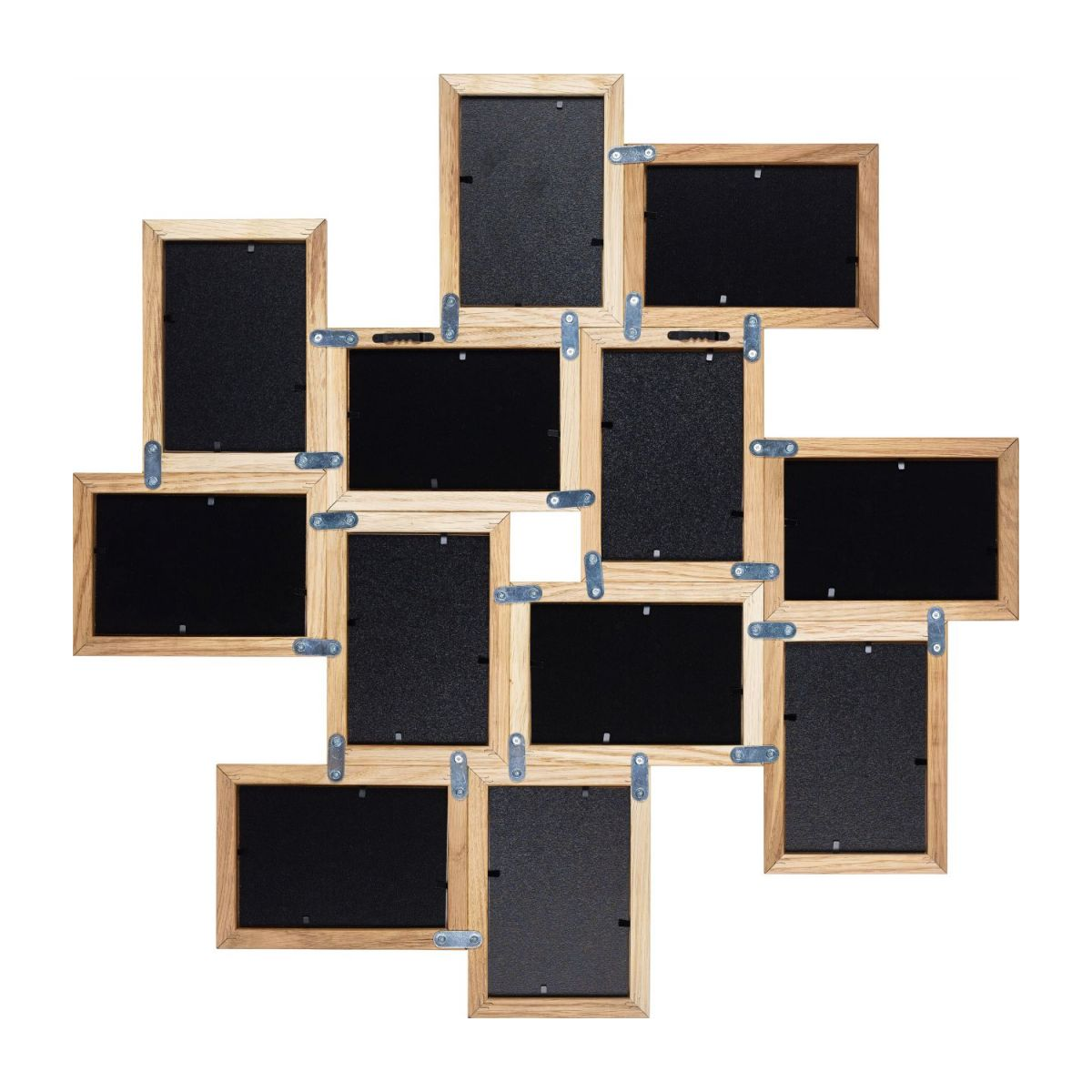 Multi photo frame made of oak n°2