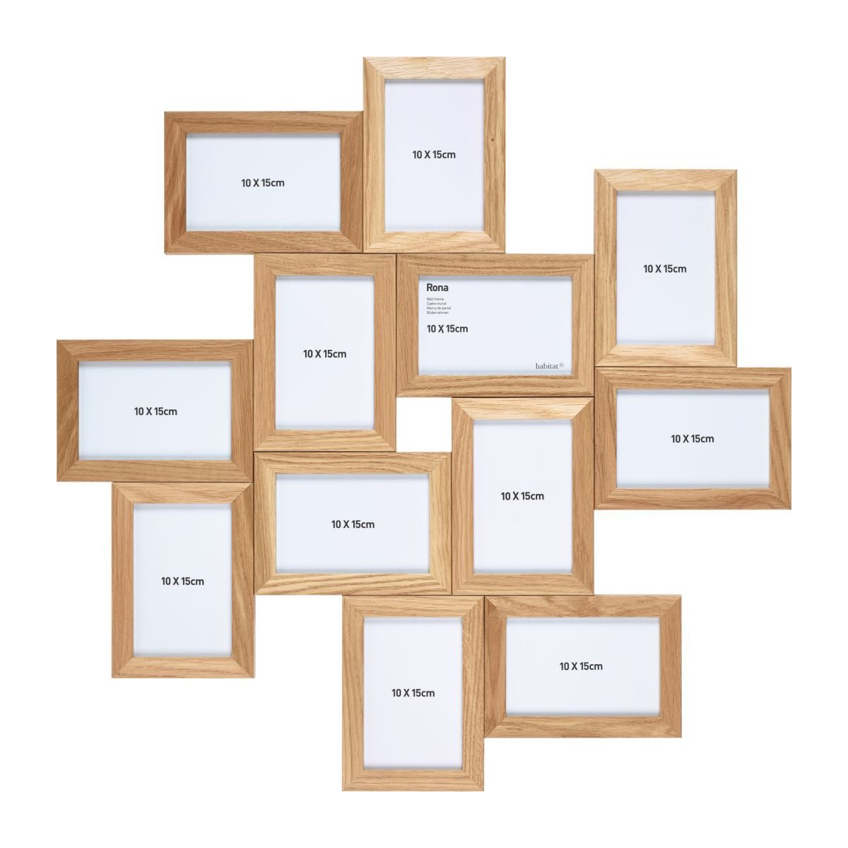 Multi photo frame made of oak n°1