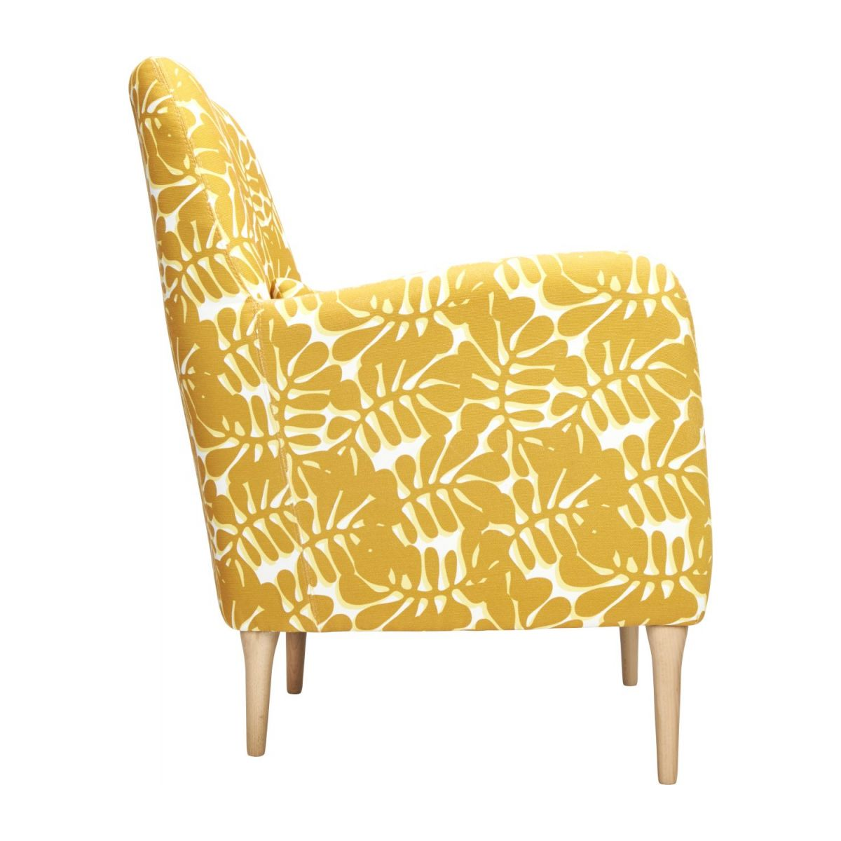 Armchair with yellow patterns n°5
