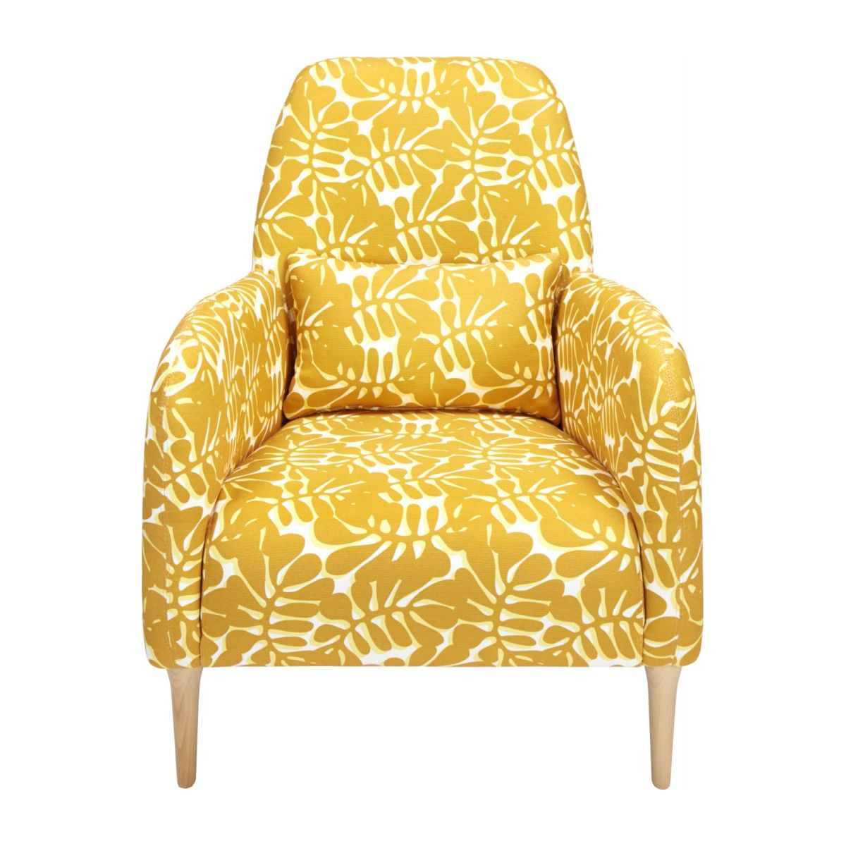 Armchair with yellow patterns n°3