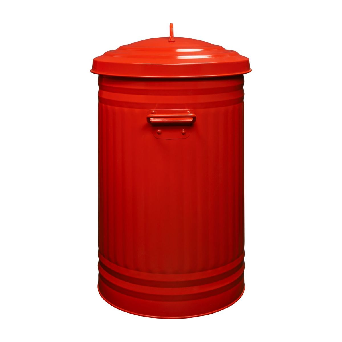 Round trash can, red 52L n°5