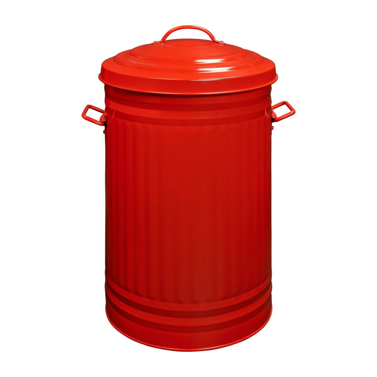 Round trash can, red 52L n°3