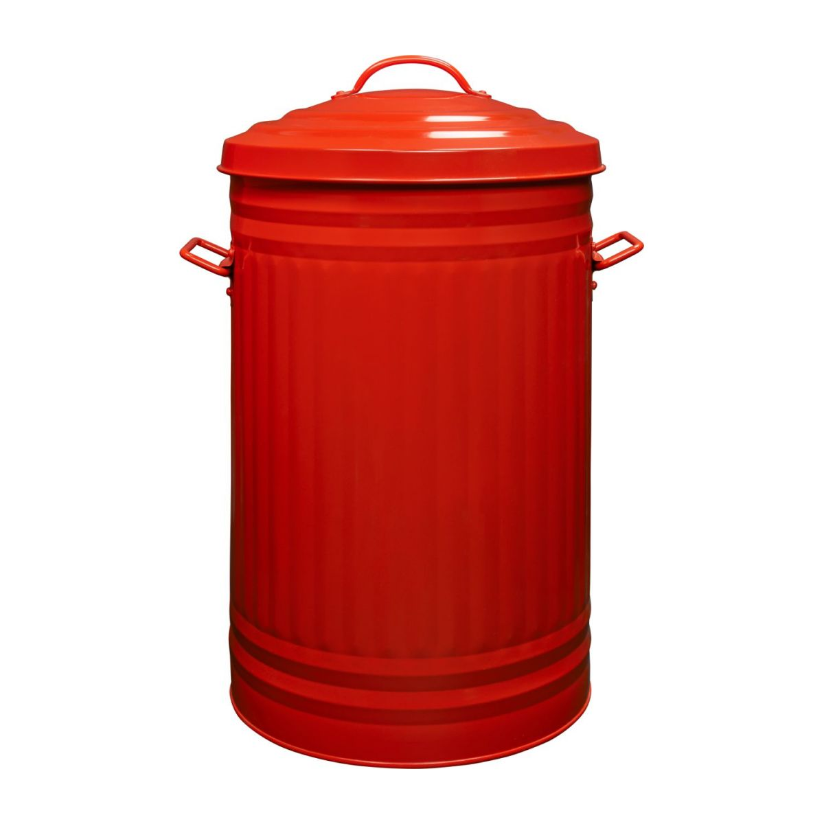 Round trash can, red 52L n°4