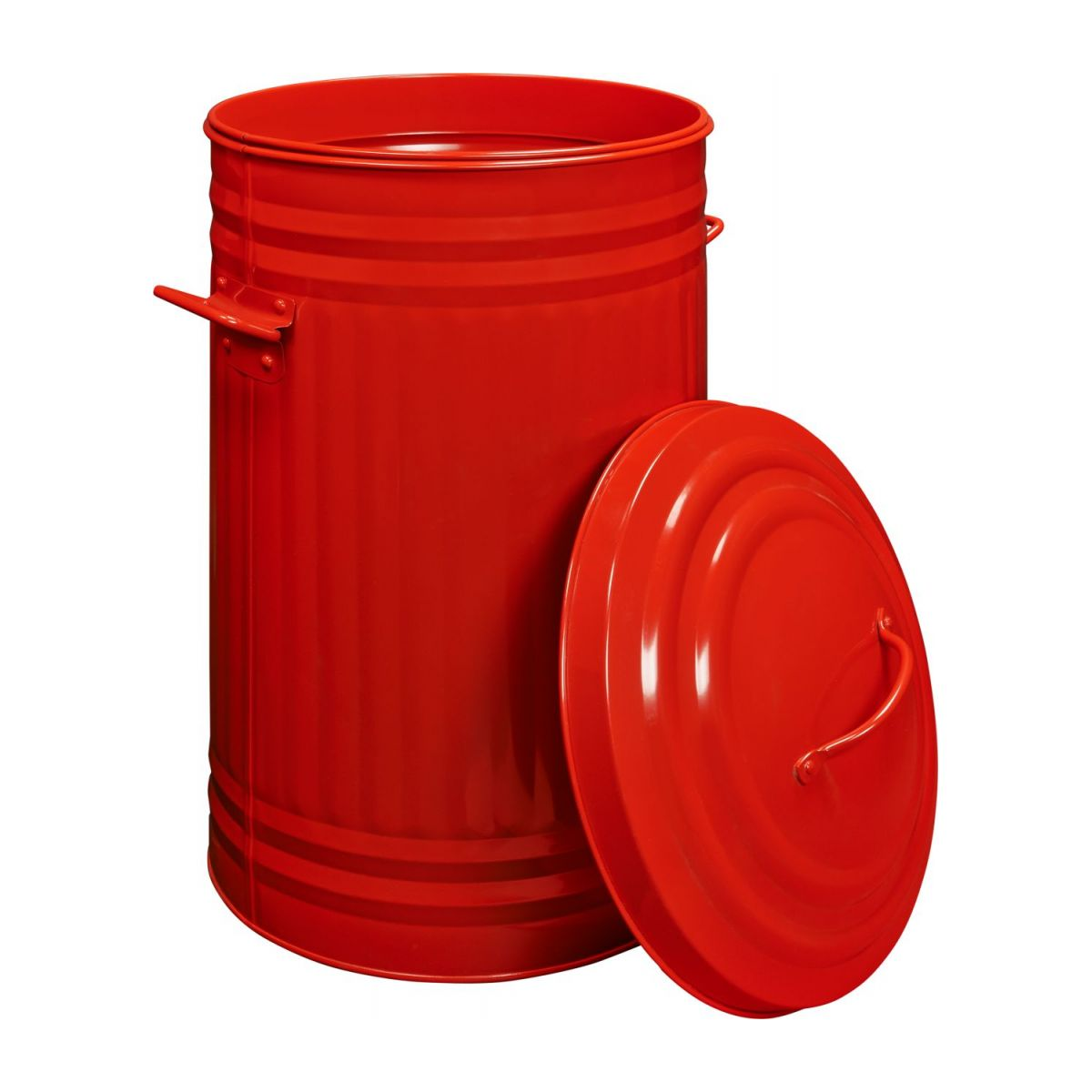 Round trash can, red 52L n°2