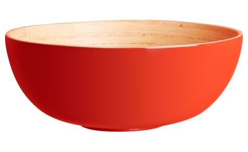 Bowl in bamboo 15cm, red