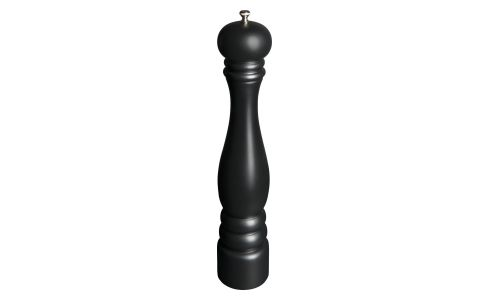 Pepper mill 42cm in hevea, black